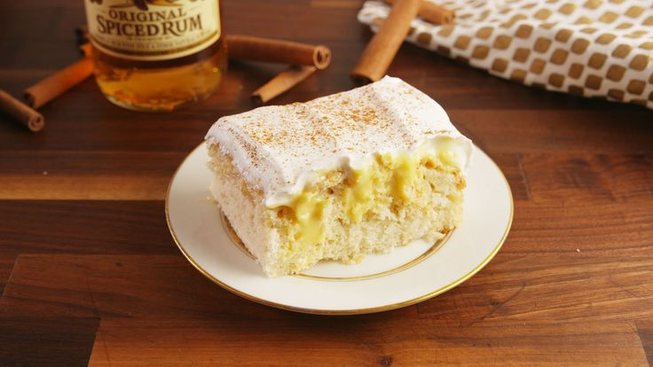 Eggnog Poke Cake - could be made with gluten free cake mix.