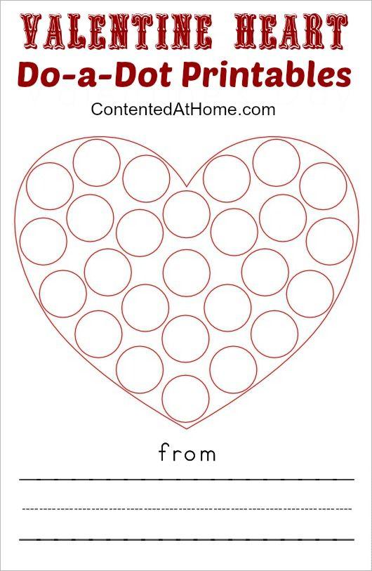Valentine Heart Do-a-Dot Printables