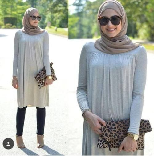 long sleeved blouse hijab look