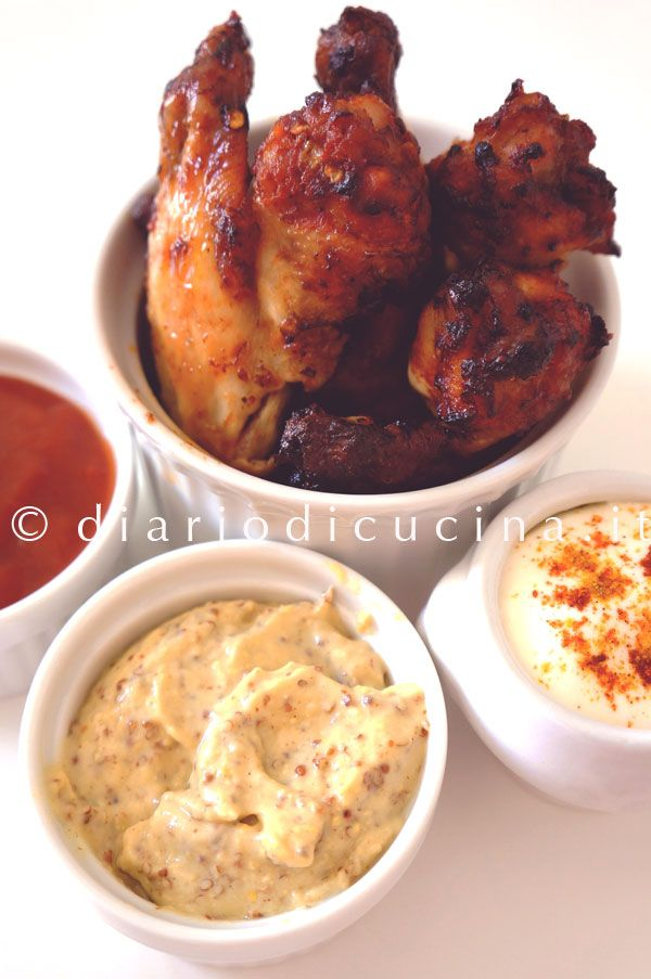 ali di pollo al forno chicken wings