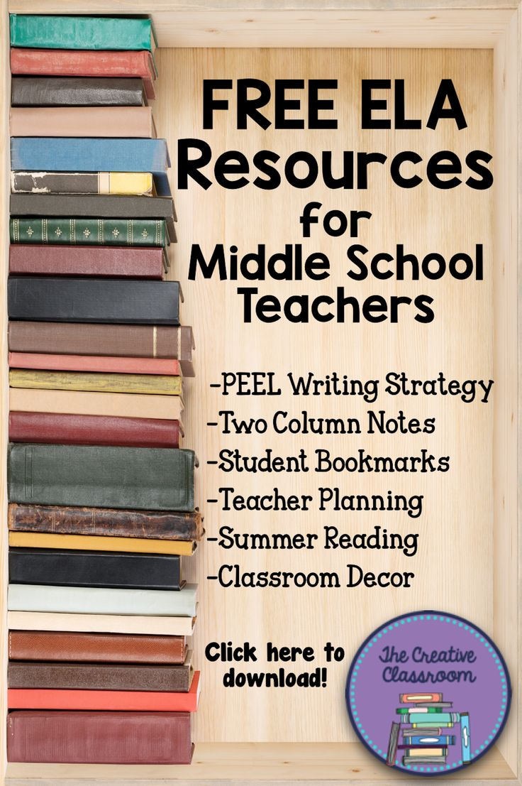FREE ELA Resource for Middle School Teachers and Classrooms: PEEL Writing Strategy, Two Column Notes Organizer, Student Bookmarks, Teacher Planning, Summer Reading, Classroom Decor, and More!