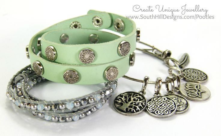 South Hill Designs - New Mint Wrap, Crystal Wrap, Bangle. Order yours here at: http://southhilldesigns.com/ca/debbiescharms/default