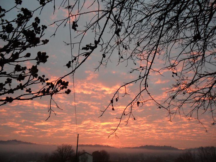 l'alba dalla mia casa