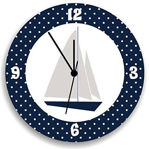 #Nursery Wall Clock, A perfect added touch to your child's room or beautiful addition to the play room. Cute, fun and colorful designed Wall Clock for your kids ...