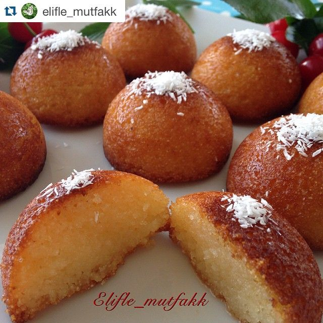 """302 Beğenme, 7 Yorum - Instagram'da @mucizetatlar #mucizetatlar (@mucizetatlar): """"Tebrikler  Takibe almak için  @elifle_mutfakk  ・・・ . . REVANİ ✔️Malzemeler 3 yumurta 4 kahve…"""""""
