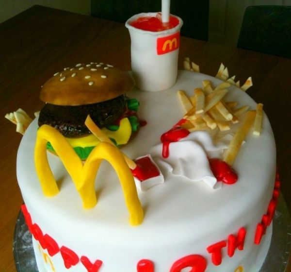 Cake With Happy Birthday Ronald