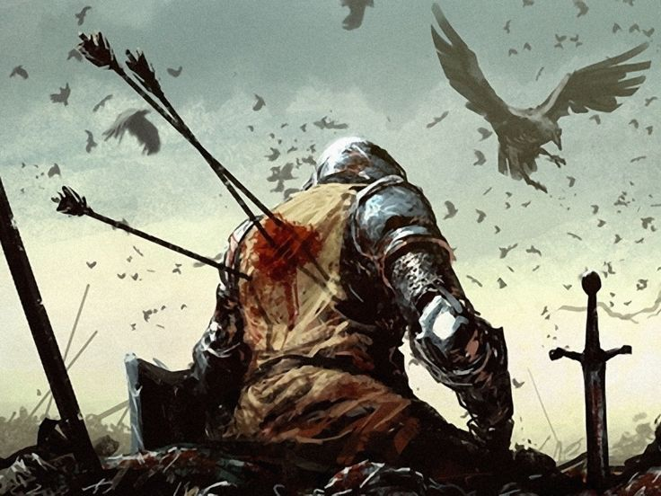 Medieval Knights Wallpaper | death battle knights fantasy art warband medieval arrows ravens lost ...