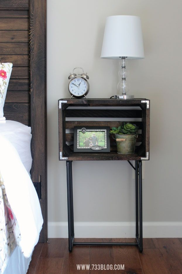 Creative Bedside Tables: Best 25+ Crate Nightstand Ideas On Pinterest