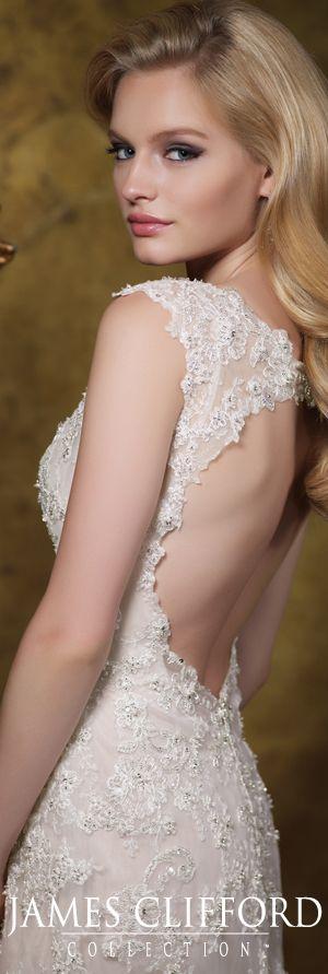 The James Clifford Spring 2015 Wedding Dress Collection - Style No. J11587 jamescliffordcollection.com #weddingdresses