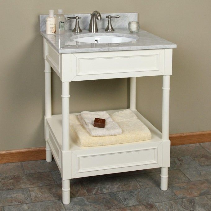 Photo Gallery Website Avis Creamy White Console Vanity for Undermount Sink Bathroom Vanities Bathroom