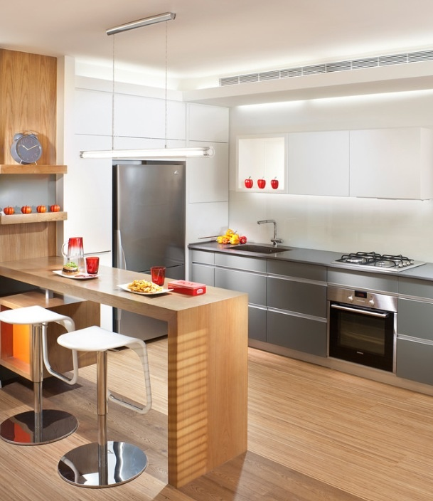 Contemporary Kitchen Bar: 17 Best Images About Waterfall Countertops On Pinterest