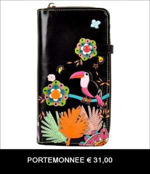 "Portemonnee ""Tropical Paradise""."