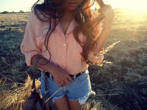 chiffon: Fashion, Style, Clothes, Button, Dream Closet, Outfit, Summer, Shorts, Shirt