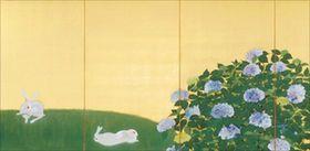 速水御舟(Gyoshū Hayami) photo 「翠苔緑芝(左)」