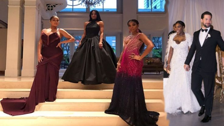 La La Anthony Steals Show At Serena Williams' Wedding With Friends Ciara...
