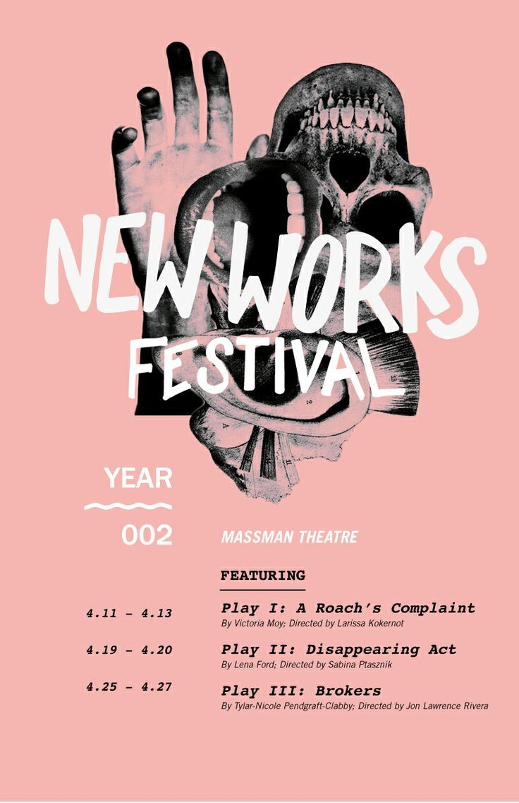 Poster design near me - New Works Festival By Lauren Allik