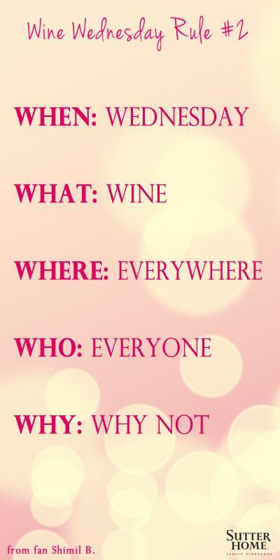 Wine Wednesday Invitation