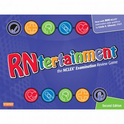 RNtertainment: The NCLEX Examination Review Game (Edition 2). This game innovates the way nursing students can prep for the NCLEX-RN. It's great for the classroom setting and for personal study groups! Created by author Linda Anne Silvestri @iStudentNurse #NCLEX #NurseHacks