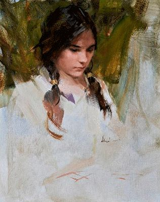Portrait by Richard Schmid, American realist painter b.1934