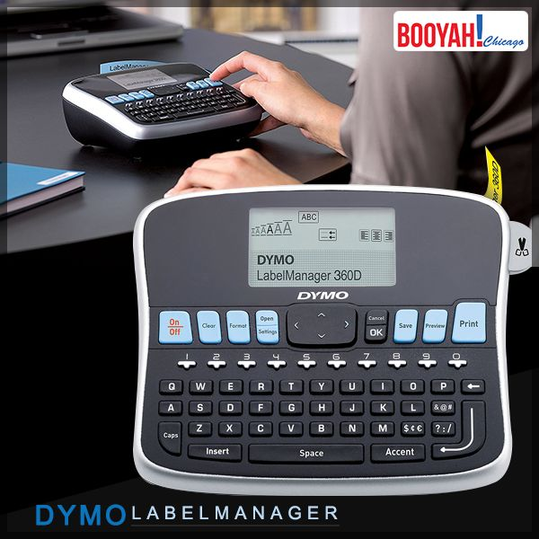 #GenuineImportedProductsDirectFromUSA Only at Booyahchicago.com DYMO LabelManager 360D Hand-Held Label Maker. Buy Now: https://tinyurl.com/ya5y7h2d #OfficeSupplies #SchoolSupplies