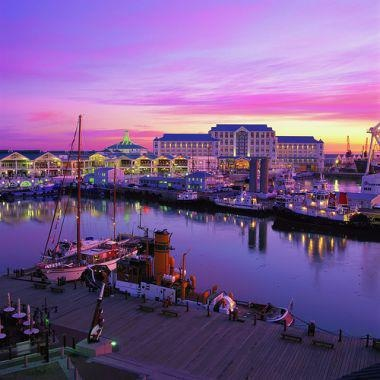Victoria & Alfred Waterfront, Cape Town, in full colour.