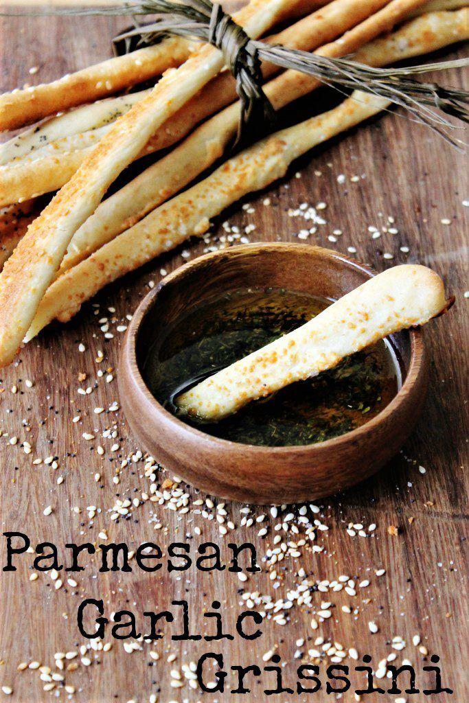 Parmesan Garlic Grissini