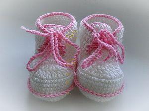 пинетки ботиночки для начинающих - Ярмарка Мастеров - ручная работа, handmade