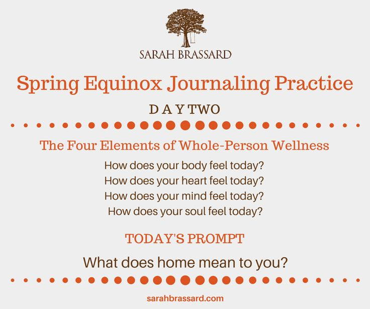 Sarah Brassard's Spring Equinox Journaling Practice | How does your body feel? How does your heart feel? How does your mind feel? How does your soul feel?  Journaling prompt: What does home mean to you?