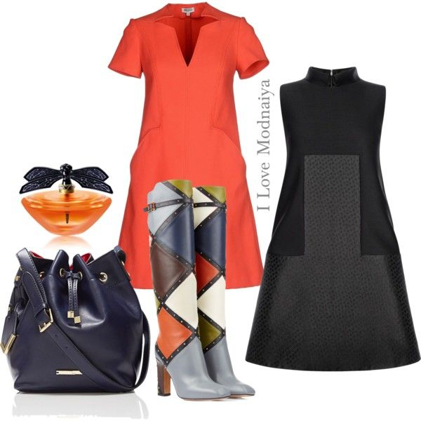 #Stylish trapeze dress! by modnaiya on Polyvore featuring Alexander McQueen, Kenzo, Valentino, The Limited and Lalique