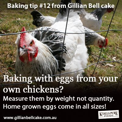 Baking with local farmers eggs: weigh them don't count them