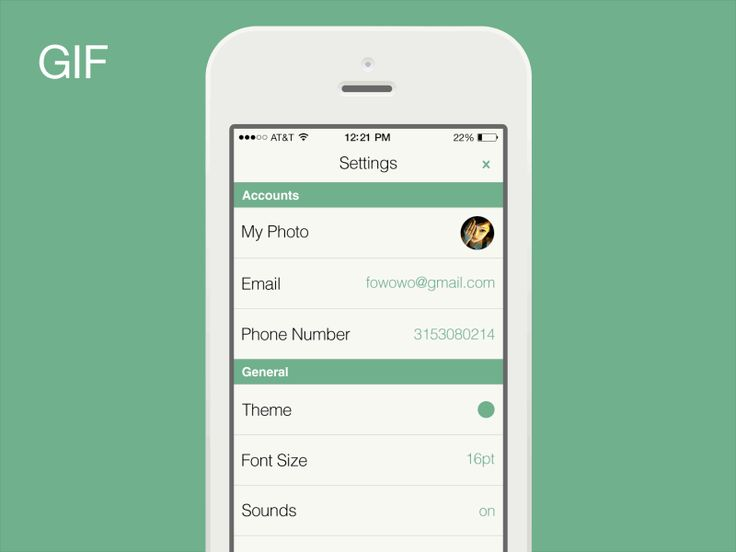 Dribbble - Settings Interactive [GIF] by Bin Wu #UImotion