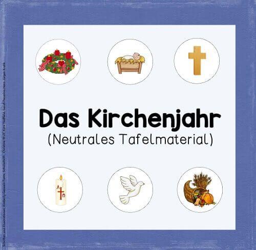 Tafelmaterial zum Kirchenjahr (neutrale Version) W…