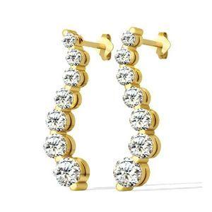 Diamantohrringe in Gelbgold von www.juwelierhausabt.de  #diamantohrringe #diamantohrstecker #weissgold #gelbgold #rosegold #weisse_diamanten #schmuck #ohrschmuck #ohrstecker #juwelier #abt #dortmund #karat
