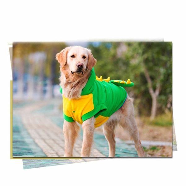 Winter Golden Retriever Jacket Coat Warm Fleece Pitbull Dog Clothes