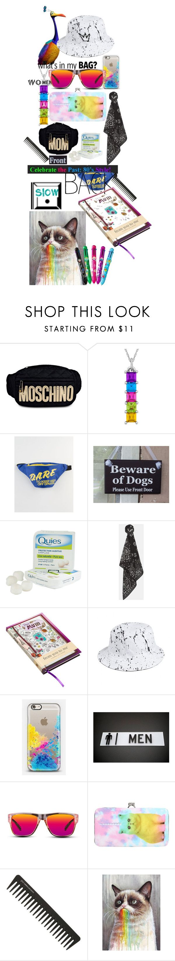 """""""meaningful bird"""" by lerp ❤ liked on Polyvore featuring Moschino, Kevin Jewelers, Extreme 80s, Caswell-Massey, MANGO, HUF, Casetify, GlassesUSA, GHD and women's clothing"""