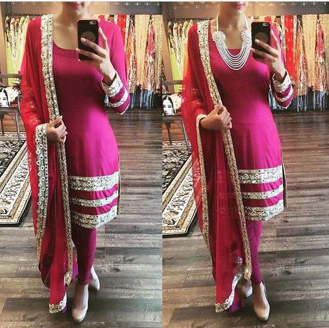 @nivetas How stunning is this beautiful embroidered  work punjabi suit , get it customized in any color   for purchase queries whatsapp +917696747289 or mail nivetasfashion@gmail.com  Visit us : https://www.facebook.com/punjabisboutique,  worldwide delivery :)  salwar suit, trouser suit, gotta patti work suit , punjabi suit, salwar suits,  indian suits