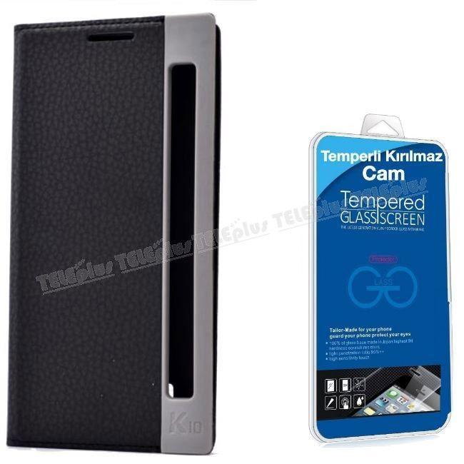 LG K10 Özel Pencereli Kılıf Siyah + Kırılmaz Cam -  - Price : TL33.90. Buy now at http://www.teleplus.com.tr/index.php/lg-k10-ozel-pencereli-kilif-siyah-kirilmaz-cam.html