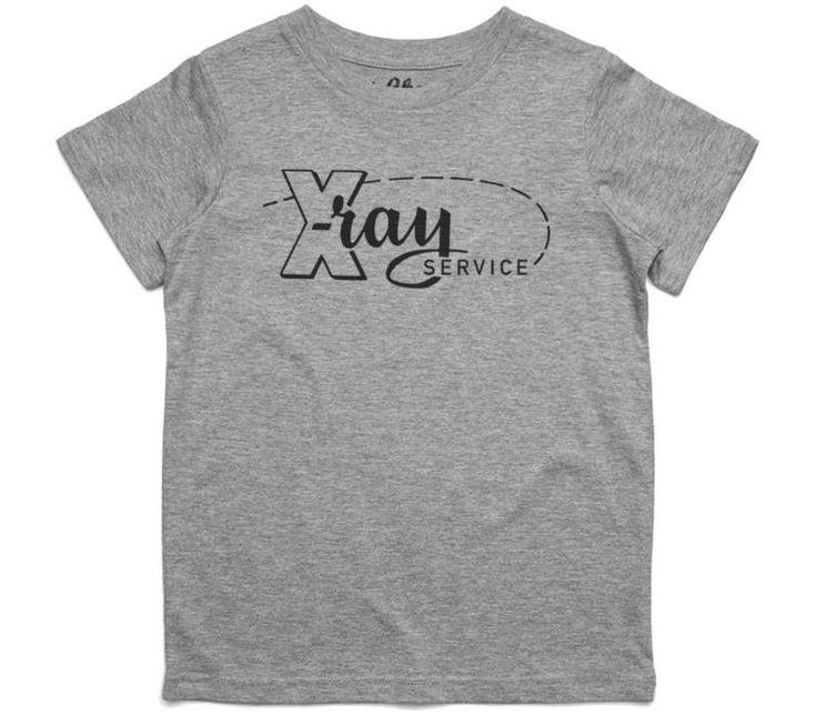 El Cheapo X-Ray Service (Black) Youth Grey Marle T-Shirt