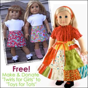 "Download FREE! Make Twirls for Girls for ""Toys for Tots!"" Sewing Pattern 