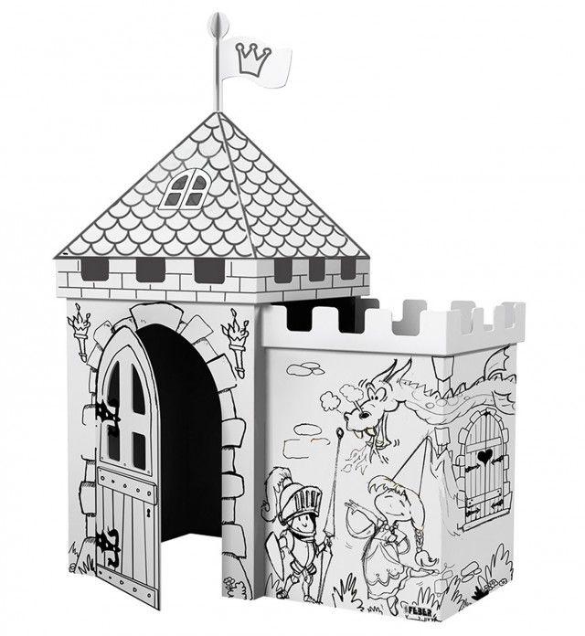 """Un castello tutto da colorare è ideale per divertirsi con gli amichetti, ma anche per condividere allegri momenti di gioco con mamma e papà. Il kit """"Dipingi il tuo castello"""" di Feber è venduto con scatola di colori inclusi. Prezzo 34,90 euro. www.feber.es"""