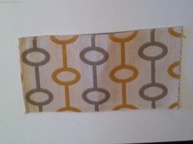 Fabric Sample TT Loops - W72785 Gold Grey