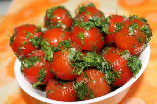 Помидоры - cherry-малосольные быстрого приготовления