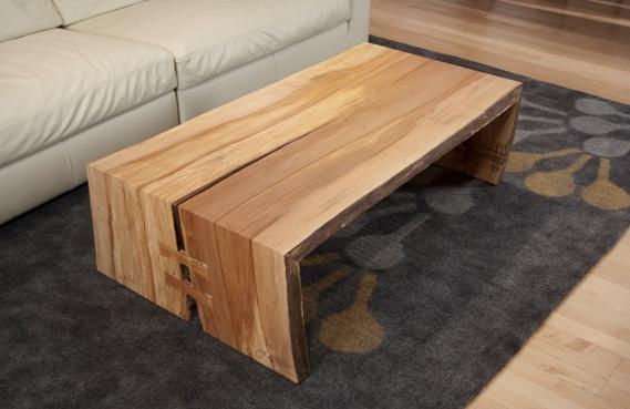 Urban Hardwoods Furniture San Francisco Maple Slab Coffee Table Tables Pinterest