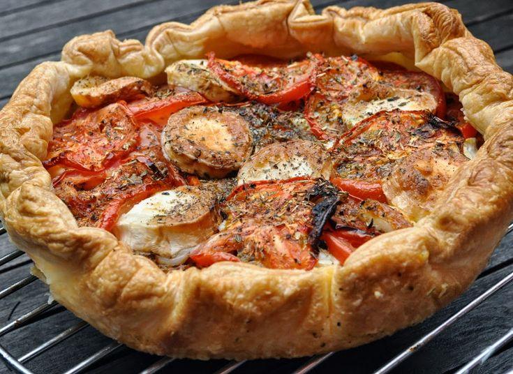 Geitenkaas - tomatentaart