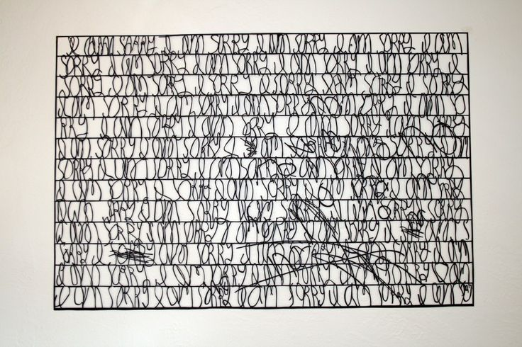 """I am sorry. No no"" 30″x21″ hand cut paper |Annie Vought"