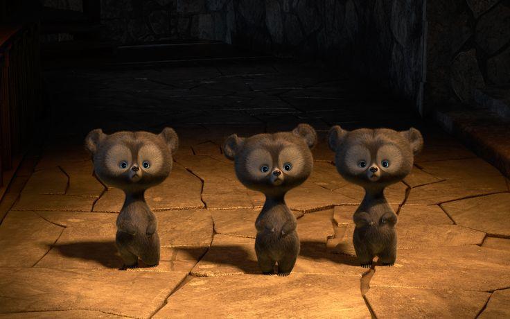 Мультики Brave  Милые Медведь Animated Фильм Обои