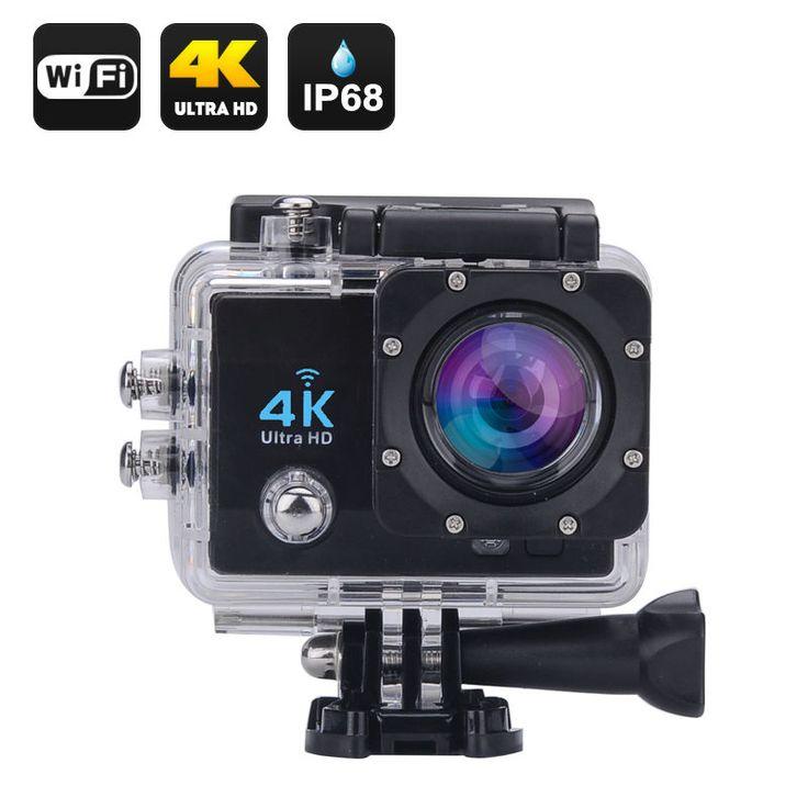 4K Wi-Fi Macchina fotografica impermeabile di azione di sport NERO
