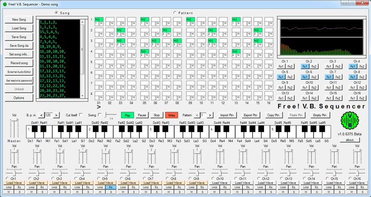 NEW Dec 2, 2017 - Free! V.B. Sequencer 1.0.6542.19706 Free and very simple and intuitive musical sequencer suitable for who is approaching to the world of the computer music.