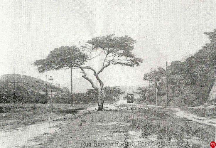 Rua Barata Ribeiro, COPACABANA, por volta de 1905. Foto acervo Fernando Franca Leite.