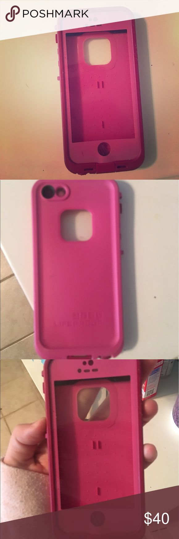 iPhone 5 life proof case Pink toned life proof case, worked for me, but I have a new phone. Only used it for a few weeks, originally got it from someone else for 75 with the box and no cord. So offers will be accepted. LifeProof Accessories Phone Cases